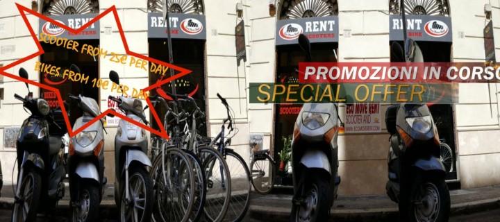 SCOOTERS DA 25€ / BICI DA 10€